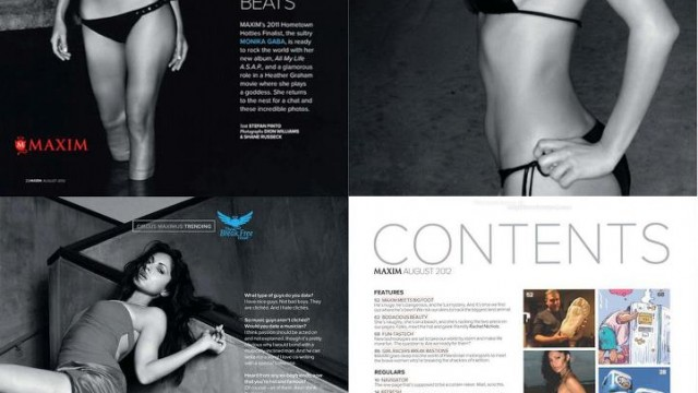 Monika Gaba, one of our mixing and mastering clients, featured in Maxim