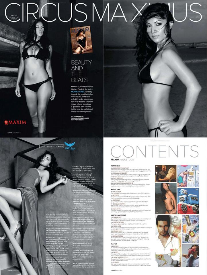 monika gaba magazine spread
