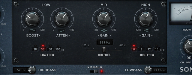 Free Vintage EQ (native plugin for Mac or PC): SonEQ